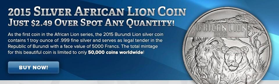 Burundi African Silver Lion