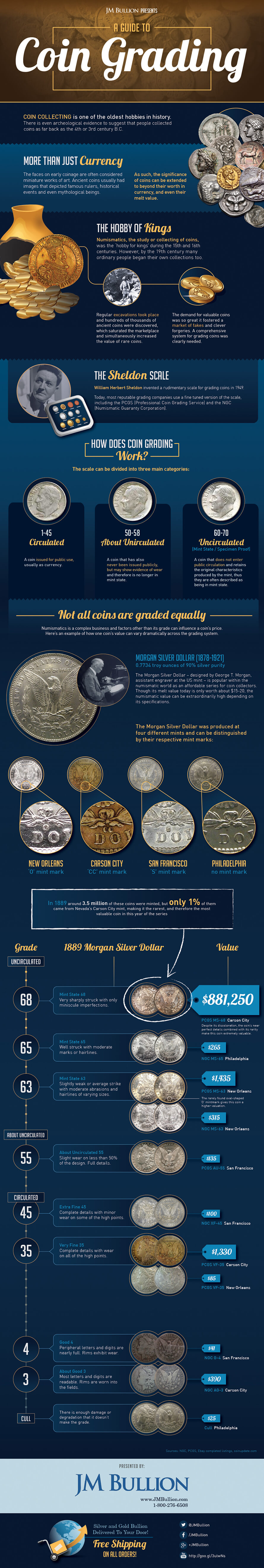Coin Grading Infographic