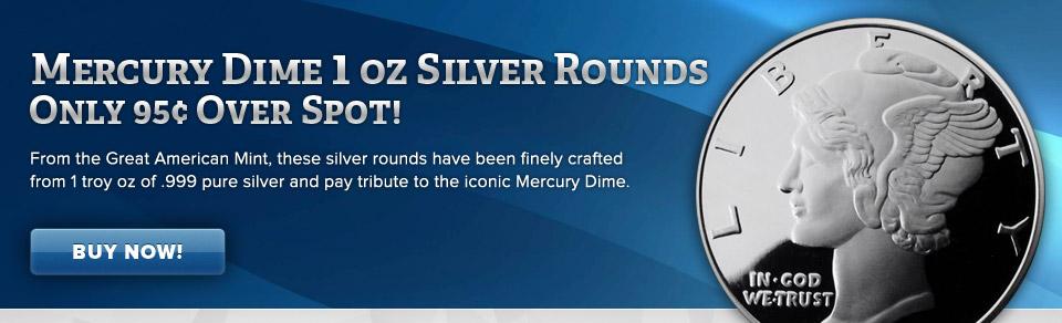 GAM Mercury Dime Silver Round