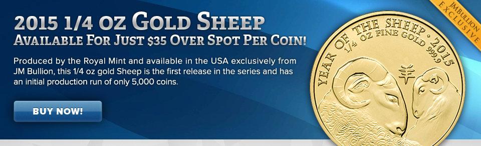 1/4 oz Gold Sheep