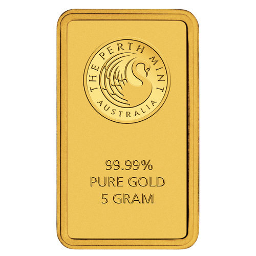 Buy 5 Gram Perth Mint 9999 Gold Bars New L Jm Bullion