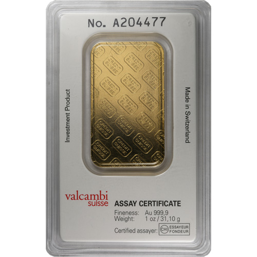 Buy 1 Oz Credit Suisse 9999 Gold Bars Online L Jm Bullion