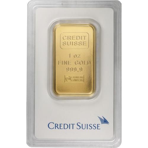 1 Oz Credit Suisse Gold Bar New W Ay