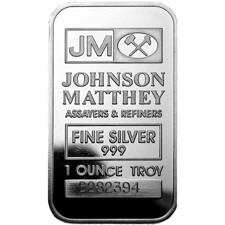 Buy 1 Oz Johnson Matthey Silver Bars L Jm Bullion