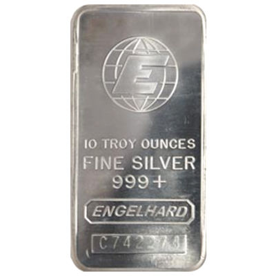 Buy 10 Oz Engelhard Silver Bars Online 999 Pure Jm
