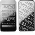 Johnson Matthey 10 Oz Silver Bar