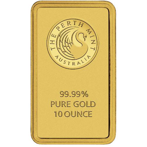 10 Oz Perth Mint Gold Bar New W Ay