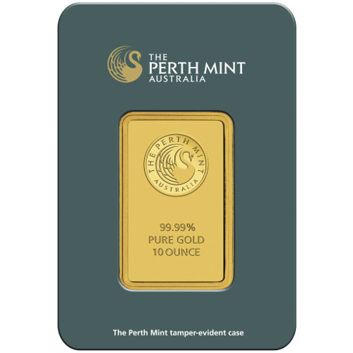 Buy 10 Oz Perth Mint 9999 Gold Bars Online Jm Bullion
