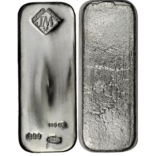Buy 100 Oz Johnson Matthey Silver Bars Online L Jm Bullion