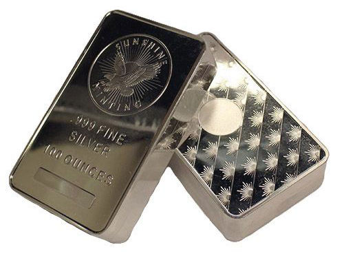 100 Oz Sunshine Silver Bar New Mintmark Si
