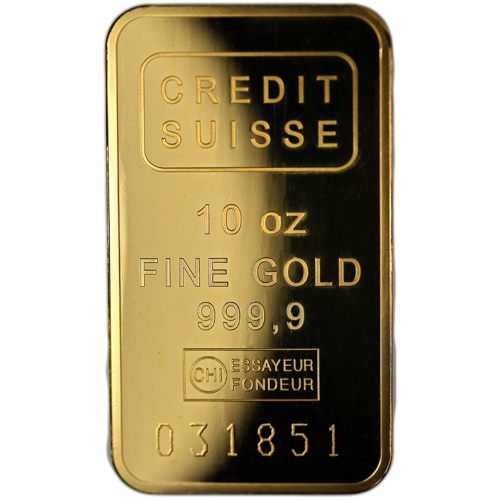 Buy 10 Oz Credit Suisse Gold Bars W Assay L Jm Bullion
