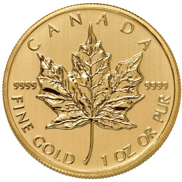 1 Oz Canadian Gold Maple Leaf Coin 9999 Pure Random Year Varied Condition