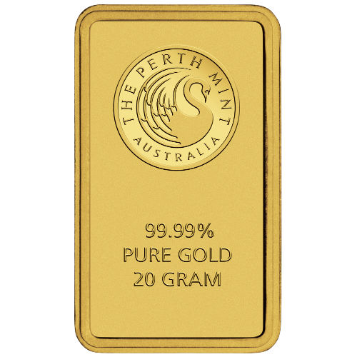 20 Gram Perth Mint Gold Bar New W Ay