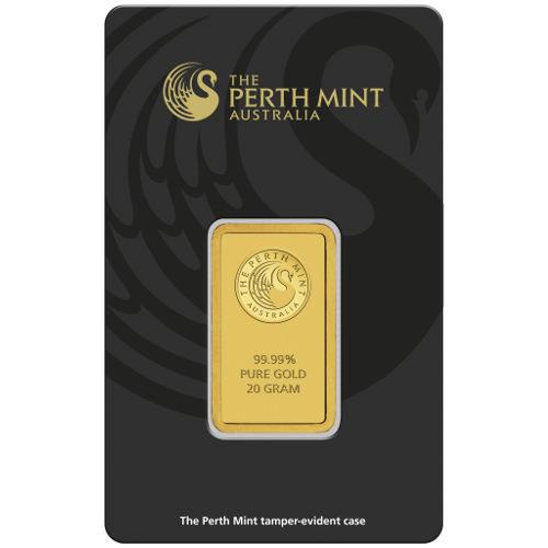 Buy 20 Gram Perth Mint 9999 Gold Bars Online New W Assay