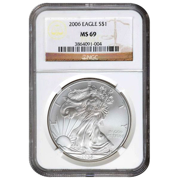 2006 American Silver Eagles Ngc