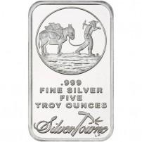 5-oz-silvertowne-prospector-silver-bar-obverse
