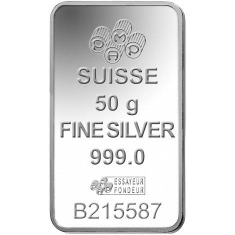 Buy 50 Gram Pamp Suisse Silver Bars Online L Jm Bullion