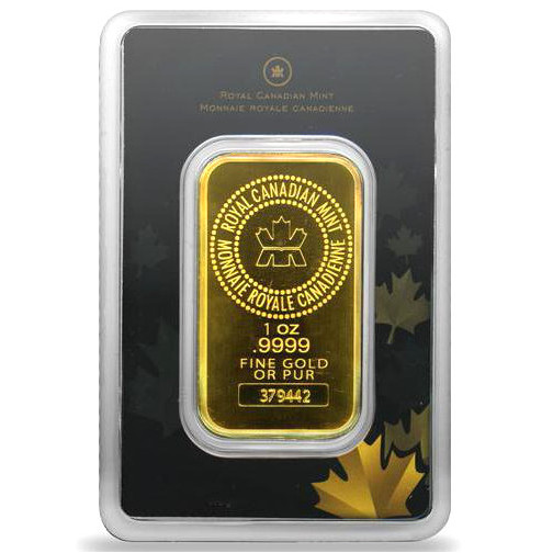 Buy 1 Oz Rcm 9999 Gold Bars Brand New L Jm Bullion