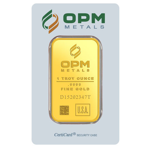Buy 1 Oz Opm 9999 Gold Bars Online New L Jm Bullion