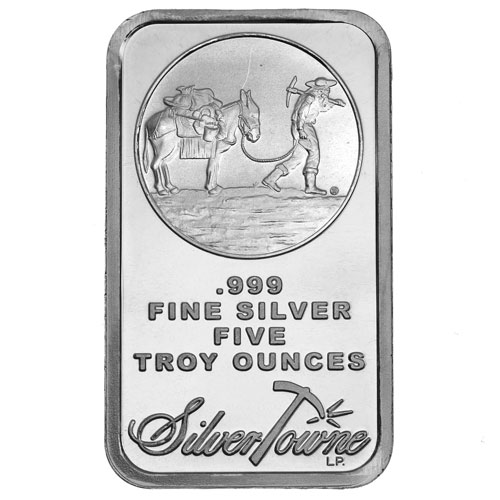 Buy 5 Oz Silvertowne Silver Bars Online New L Jm Bullion