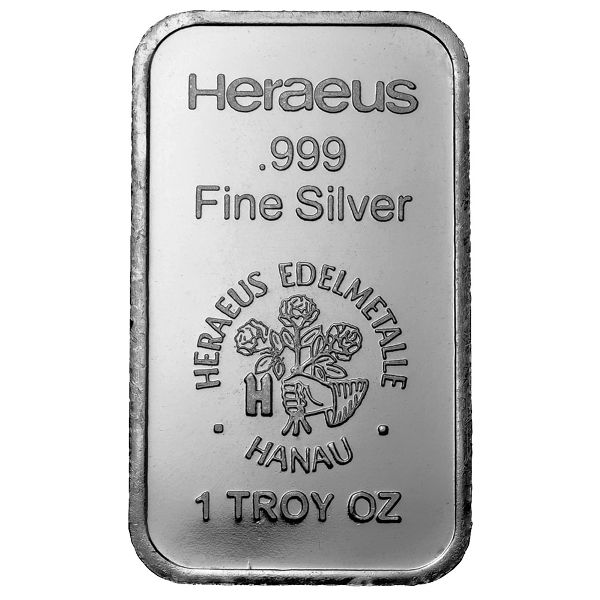 Buy 1 Oz Heraeus Silver Bars Online 999 Pure L Jm