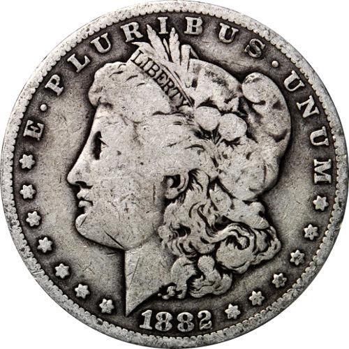 Morgan Silver Dollar Coin (1878-1904, Fine)