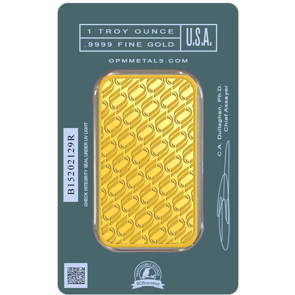 1 Oz Opm Gold Bar New W Ay