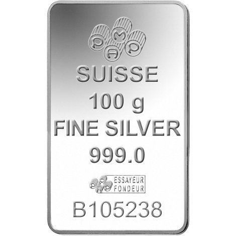 Buy 100 Gram Pamp Suisse Silver Bars Brand New L Jm Bullion