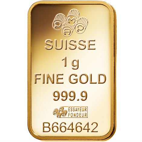 Buy 1 Gram Pamp Suisse Gold Bars Brand New L Jm Bullion