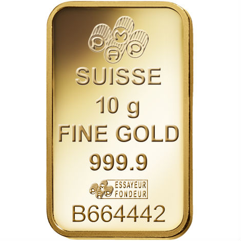 Buy 10 Gram Pamp Suisse 9999 Veriscan Gold Bars Online