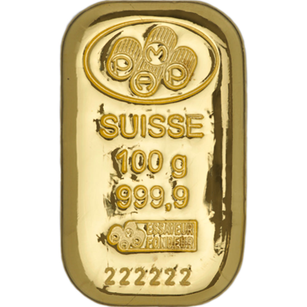 Buy 100 Gram Pamp Suisse 9999 Gold Cast Bars Jm Bullion