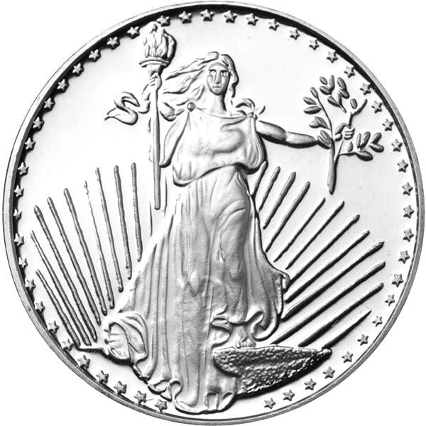 Buy 1 Oz Silvertowne Saint Gauden Silver Rounds L Jm Bullion