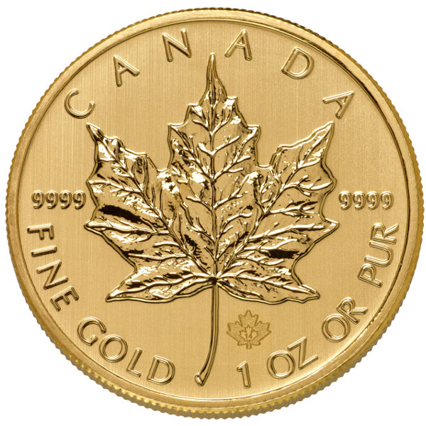 Gold Canadian Maple Leaf 1//10 oz CoinSealed In RCM Plastic
