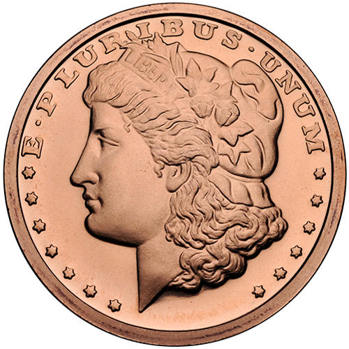 buy 1 oz morgan copper rounds online l jm bullion