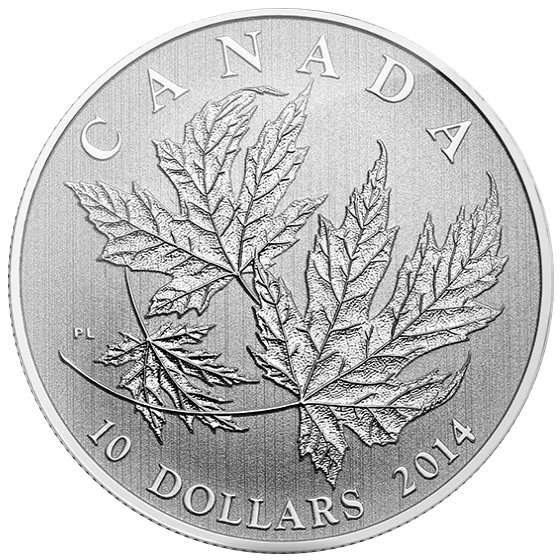 Buy 2014 Canadian 1 2 Oz Maple Leaf Silver Coins L Jm Bullion
