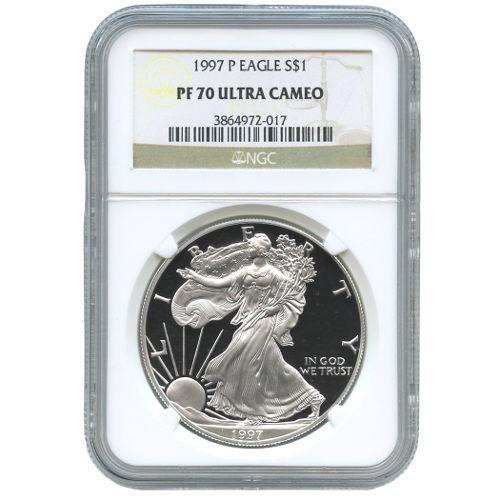 Buy 1997 P American Silver Eagles Ngc Pf70 L Jm Bullion