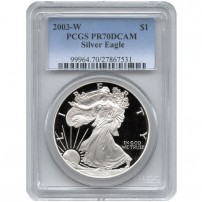 2003-w-eagle-pcgs-pr70dcam-new