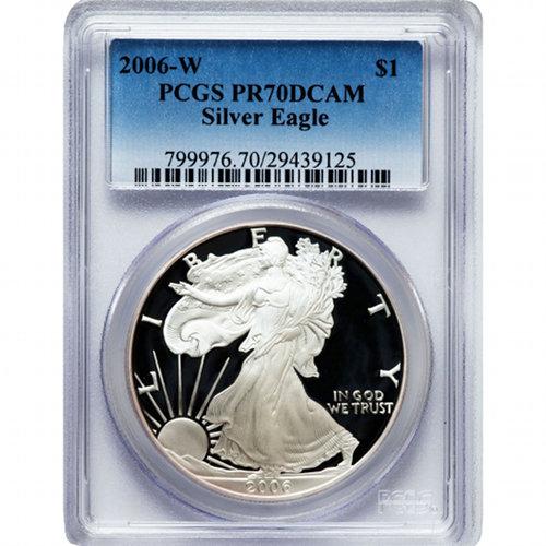 2006-W American Silver Eagle PCGS PR-70DCAM