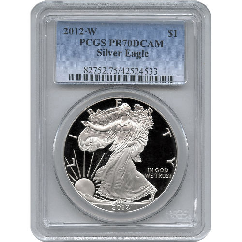 Buy 2012 W American Silver Eagles Pcgs Pr70 L Jm Bullion