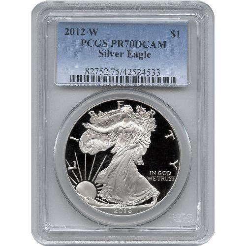 Buy 2012 W American Silver Eagles Pcgs Pr70 L Jm Bullion