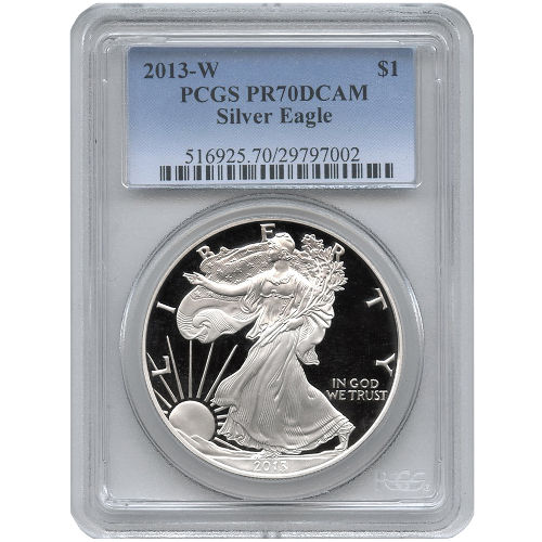 Buy 2013 W American Silver Eagles Pcgs Pr70 L Jm Bullion