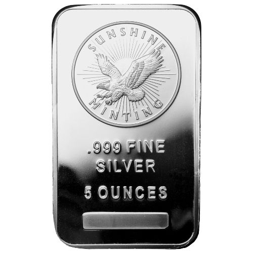 5 oz Sunshine Silver Bar
