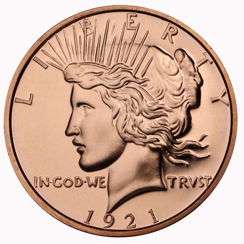 Pure Copper Bullion Round!! Le Muerte Del Dolar 1oz