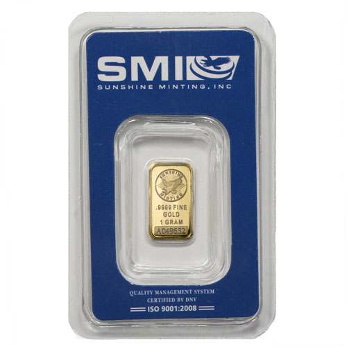 1 Gram Sunshine Gold Bar New W Ay Mintmark Si