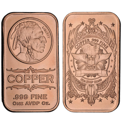 buy 1 oz indian head copper bars online l jm bullion