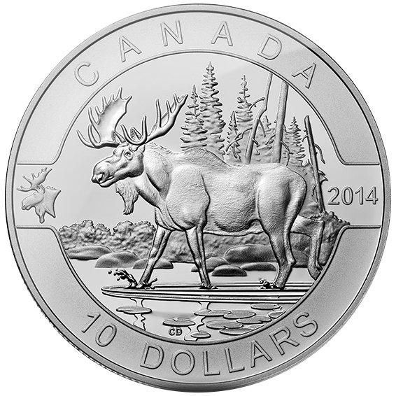 Buy 2014 Canadian 1 2 Oz Moose Silver Coins L Jm Bullion