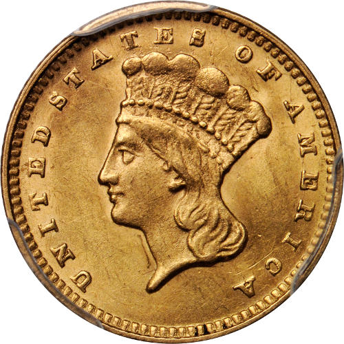 Buy Type Iii 1 Indian Gold Coins Online Ms62 L Jm Bullion