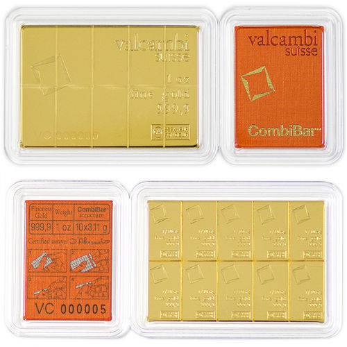 Buy 1 Oz Valcambi Gold Combibars New L Jm Bullion
