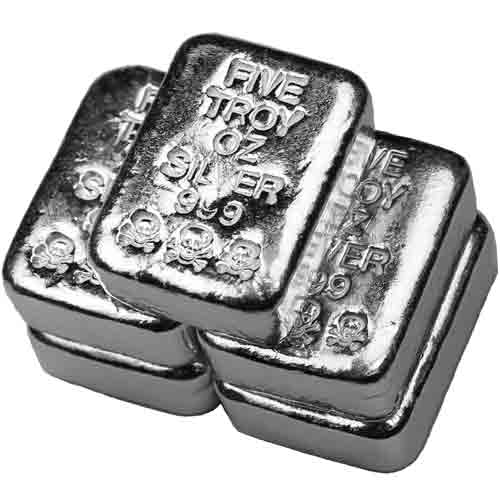 Buy 5 Oz Atlantis Poured Silver Bars Online L Jm Bullion