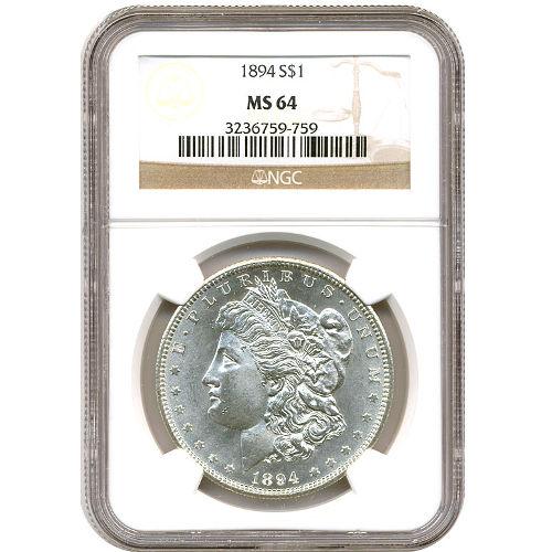 Buy Morgan Silver Dollars Ngc Ms64 L Jm Bullion